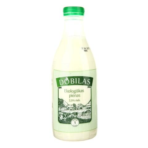 Ekologiškas pienas DOBILAS, 2,5% rieb., 1l