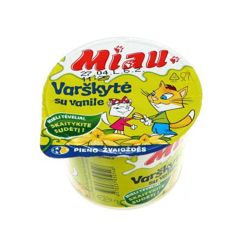 Ekologiška varškytė su vanile MIAU, 6%, 100g