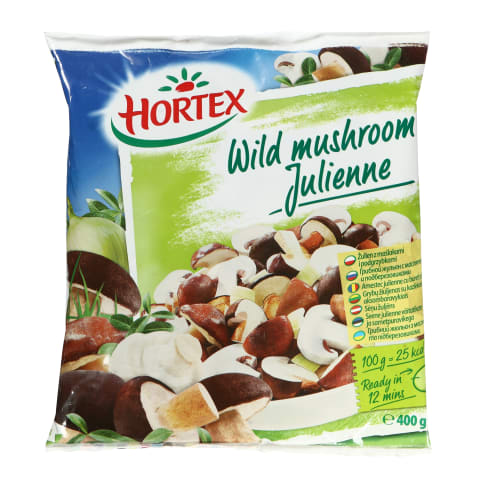 Šaldytas grybų mišinys HORTEX JULIENNE, 400 g
