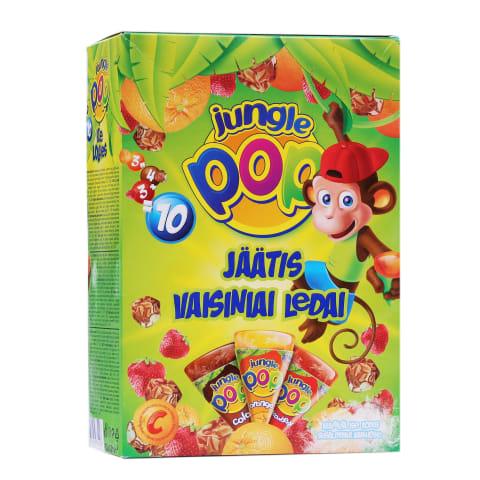 Augļu saldējums Jungle POP multipaka 620g
