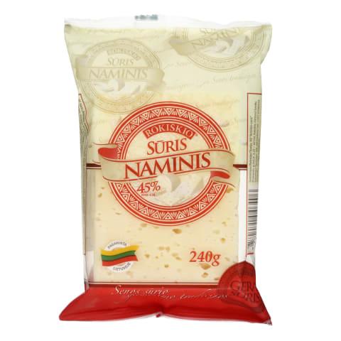 Ferment. Rokiškio NAMINIS sūris, 45%, 240 g