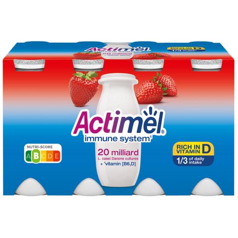 Dzeramais jogurts Actimel zemeņu 8x100g