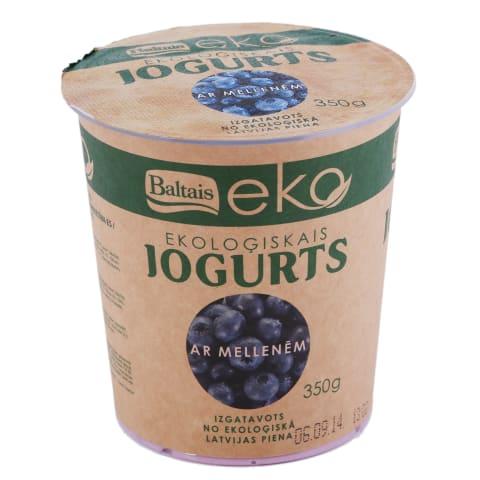 Jogurts Baltais ar mellenēm EKO 350g