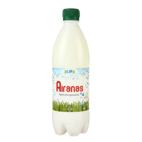 Ryt. raug. pieno gėrimas airan. 2LIFE,1%,0,5l