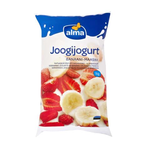 Joogijogurt banaani-maasika Alma 1kg