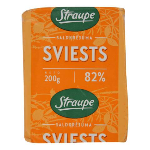 Sviests Straupe saldkrējuma 82% 200g