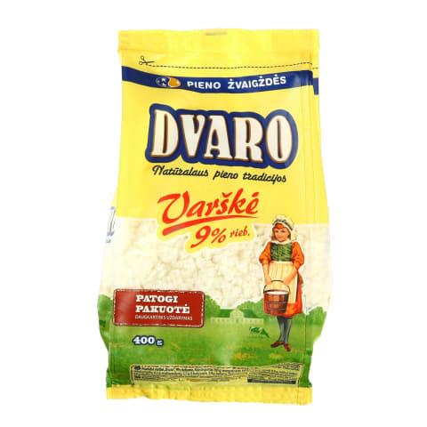 DVARO varškė, 9% rieb., 0,4kg (maišelyje)