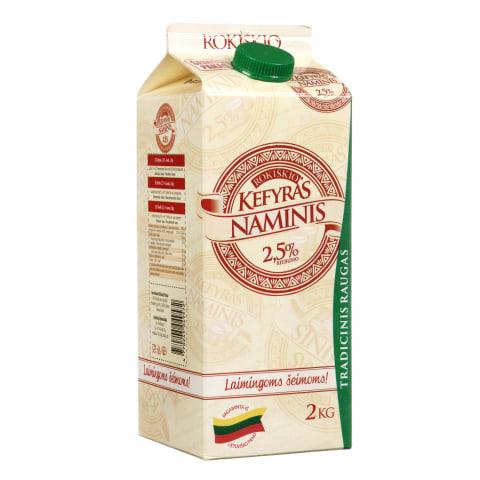 Kefyras ROKIŠKIO NAMINIS, 2,5% rieb., 2 kg