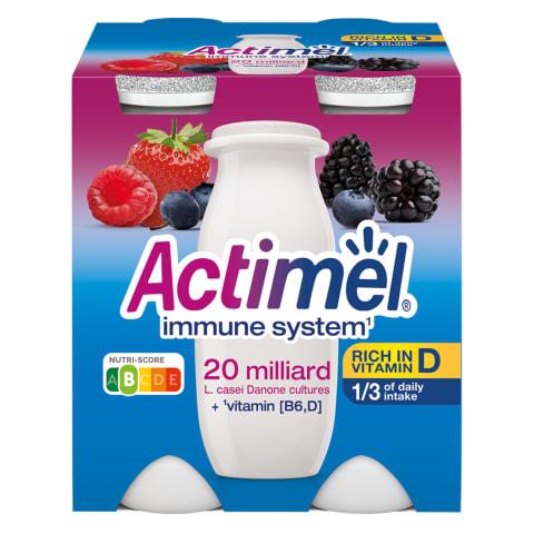 Jogurtijook metsamarja Actimel 4x100g