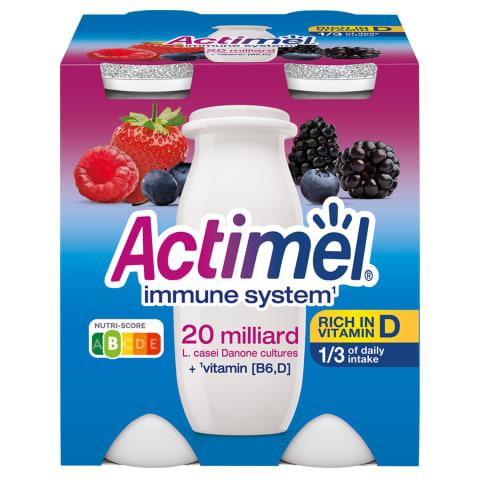 Jogurta dzēriens Actimel meža ogu 4x100g
