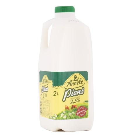 Piens Annele pasterizēts 2,5% 2l