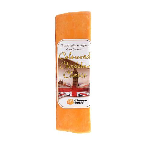 Spalvotas čederio sūris cheese world 50%