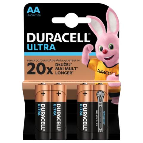 Baterija DURACELL ULTRA LR6 AA, 4vnt