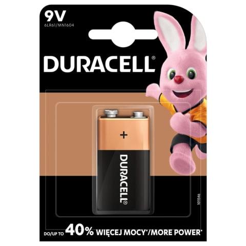 Baterija DURACELL 6F22, 1vnt