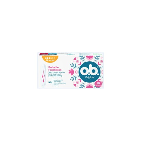 Higien. tamponai O.B. ORIGINAL NORMAL, 16vnt.