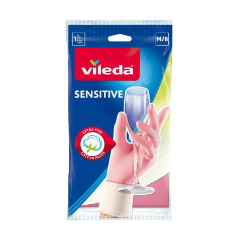 Pirštinės VILEDA Sensitive M, 1 pora