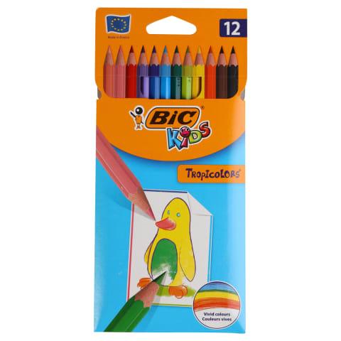 Krāsainie zīm. Bic Tropicolor 12gab AW21