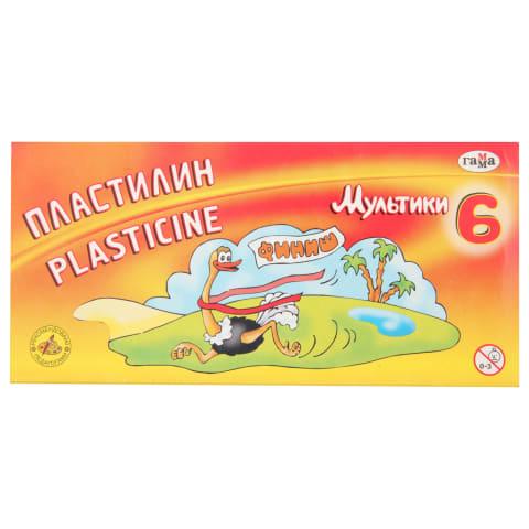 Plastilinas GAMMA MULTIKI, 6 spalvų