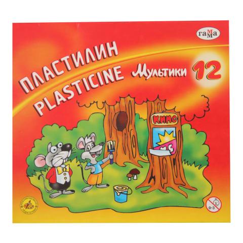 Plastilinas GAMMA MULTIKI, 12 spalvų