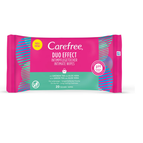 Intym. hig. serv. Carefree Aloe+Gr Tea 20vnt