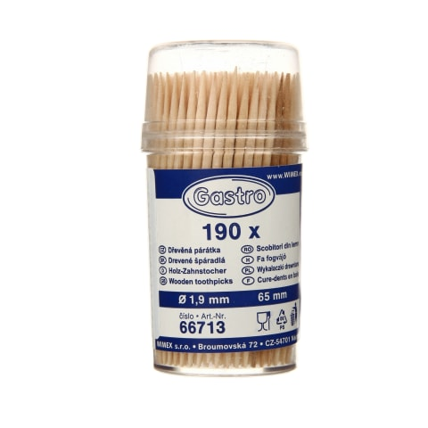 Mediniai dantų krapštukai GASTRO, 190vnt.