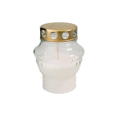 Balta kapų žvakė SU-430, dega iki 38val.