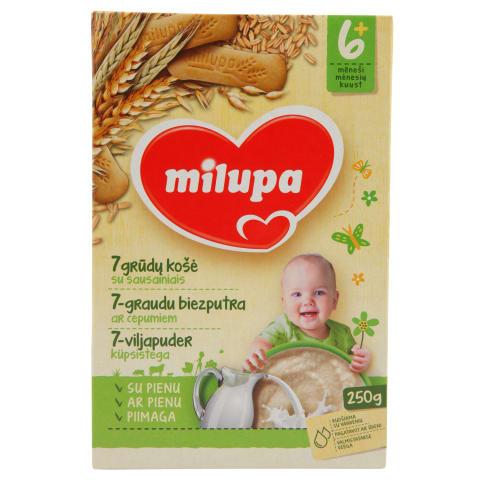 Pien. košė su sausain., MILUPA, 6 mėn., 250g