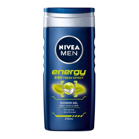 Dušas želeja Nivea energy vīriešiem 250ml