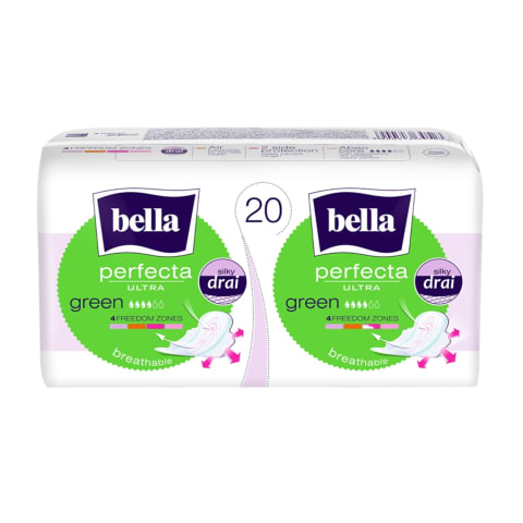 Higiēnas paketes Bella Ultra Green 20 gab.