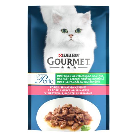 Kiisueine Gourmet Perle forelli-spi. 85g