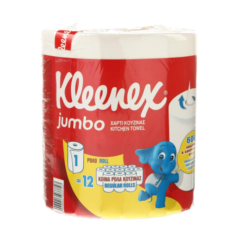 Pop.rankšluosčiai KLEENEX JUMBO,1rit.,600lap.