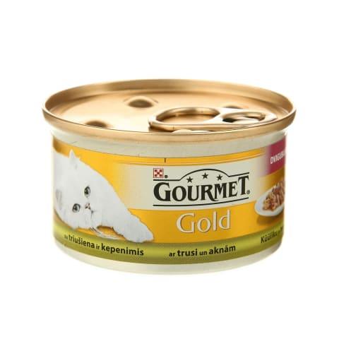 Kons. kaķiem Gourmet gold duo aknu truša 85g