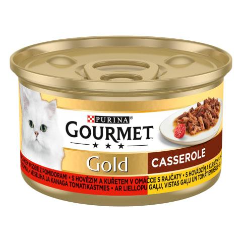 Kačių ėdal.lašiš.višt. GOURMET GOLD,85g