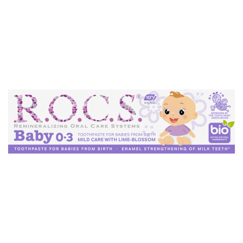 Zobu pasta Rocs Baby liepziedu,0-3 mēn.,35ml