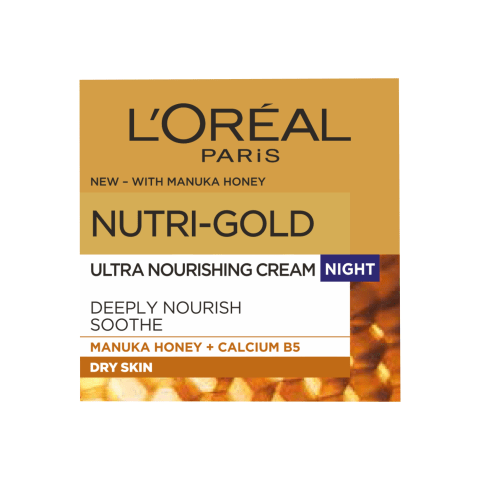 Nakt. veido kremas L'OREAL NUTRI GOLD, 50ml