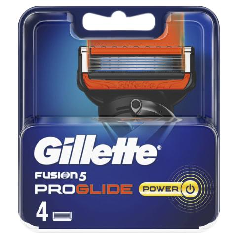 Skus.gal.GILLETTE FUSION PROGLIDE POWER,4vnt.