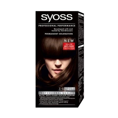 Matu krāsa Syoss color 3-8 saldā brunete