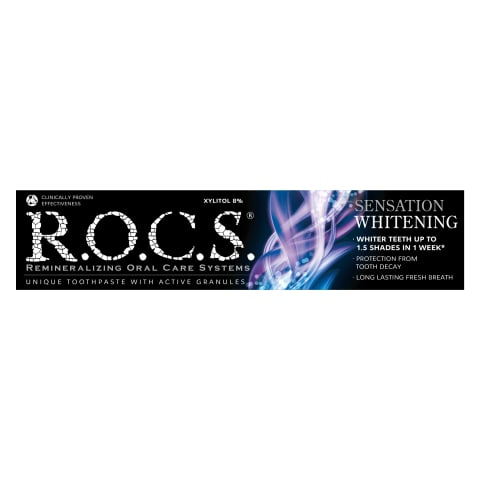 Zobu pasta Rocs Sensation Whitening 60ml