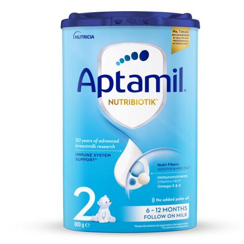 Piena maisījums Aptamil 2 no 6 mēn. 800g
