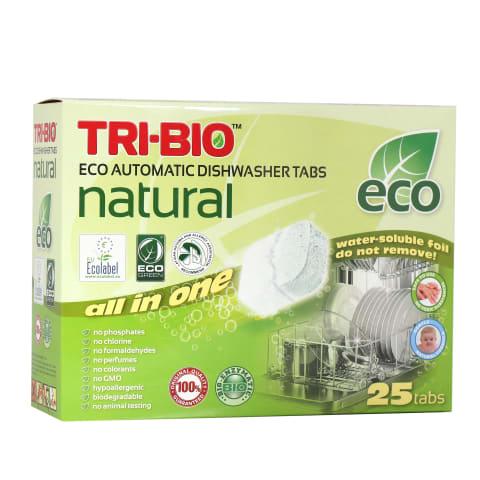 Ekologiškos tabletės indaplov. TRI-BIO,25vnt.