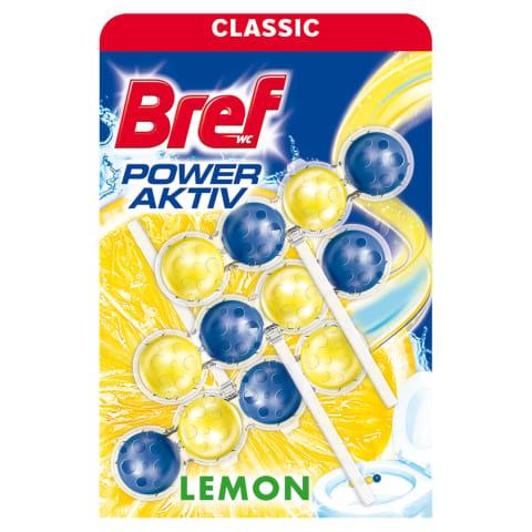 WC puhastus Bref aktiv lemon 3x50g