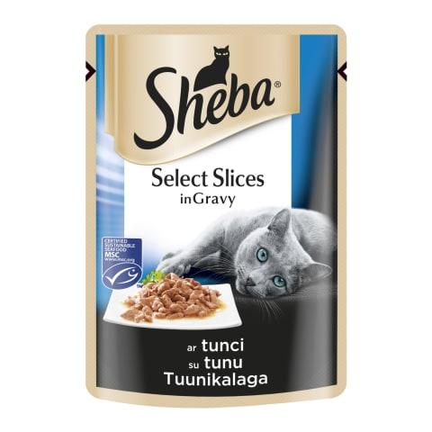 Kaķu bar. Sheba cuisine maisiņā ar tunci 85g
