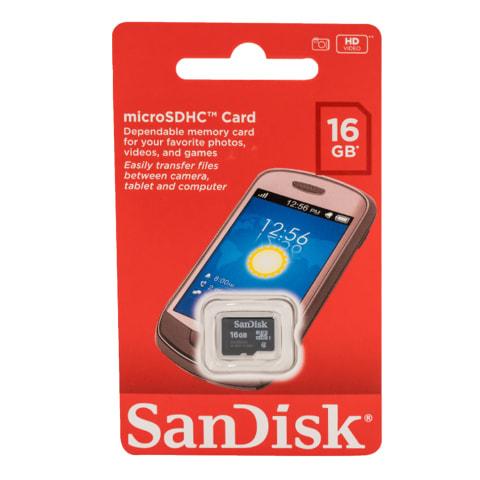 Mälukaart Sandisc microSDHC 16GB