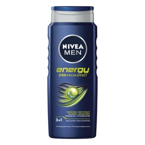Vyriška dušo želė NIVEA MEN ENERGY, 500ml