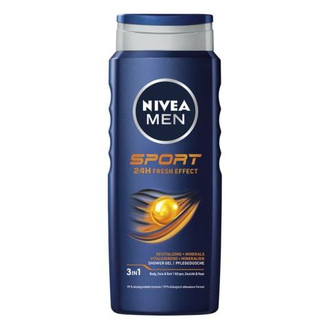 Vyriška dušo želė NIVEA MEN SPORT, 500ml