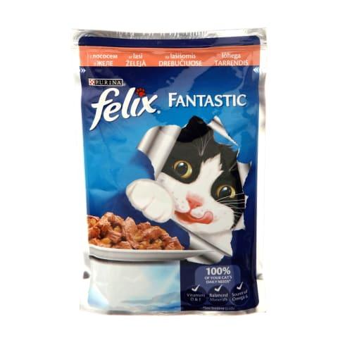 Kons. kaķiem Felix ar laša gabaliņiem 100g