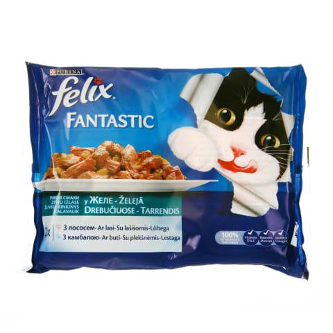 Konservi kaķiem Felix zivju izlase 4x100g