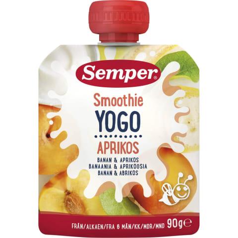 Geriam. jogurtas su abrik., SEMPER, 6mėn.,90g