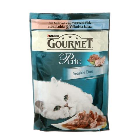 Konservi kaķiem Gourmet Perle lasis/saida 85g