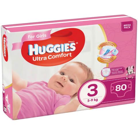 Autiņb. Huggies Ultra C. girl 5-9kg 80gb